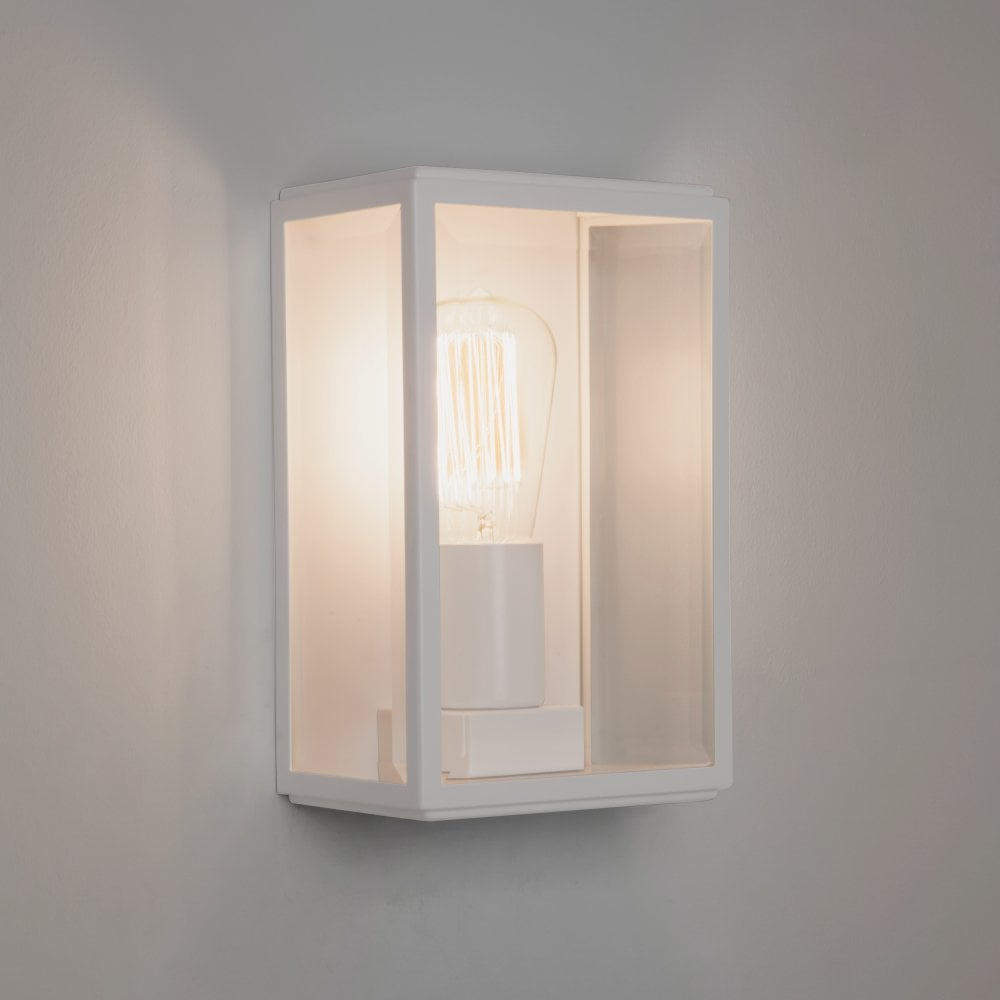 1095012 7587 Homefield Painted White Outdoor Wall Light