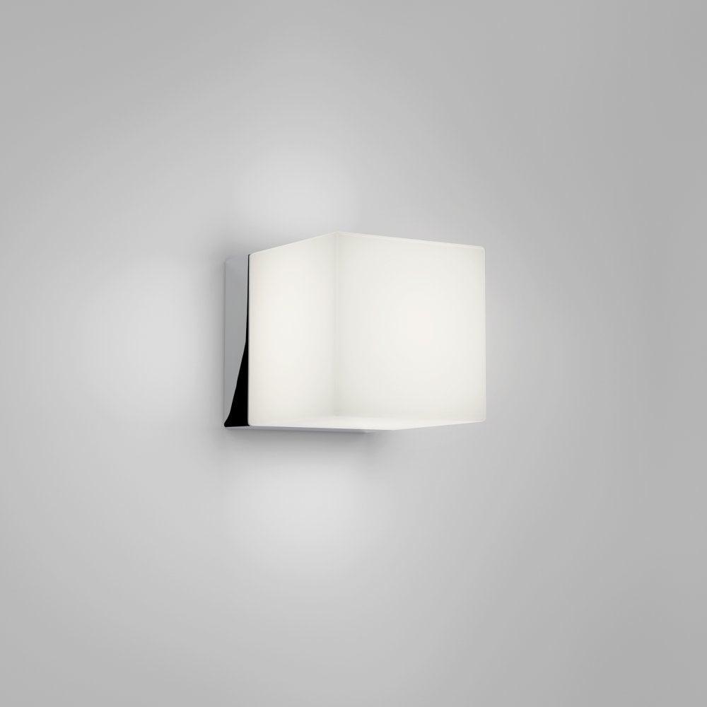 pretty nice 6ecec 5f58c 1140002 Cube LED Wall Light Polished Chrome