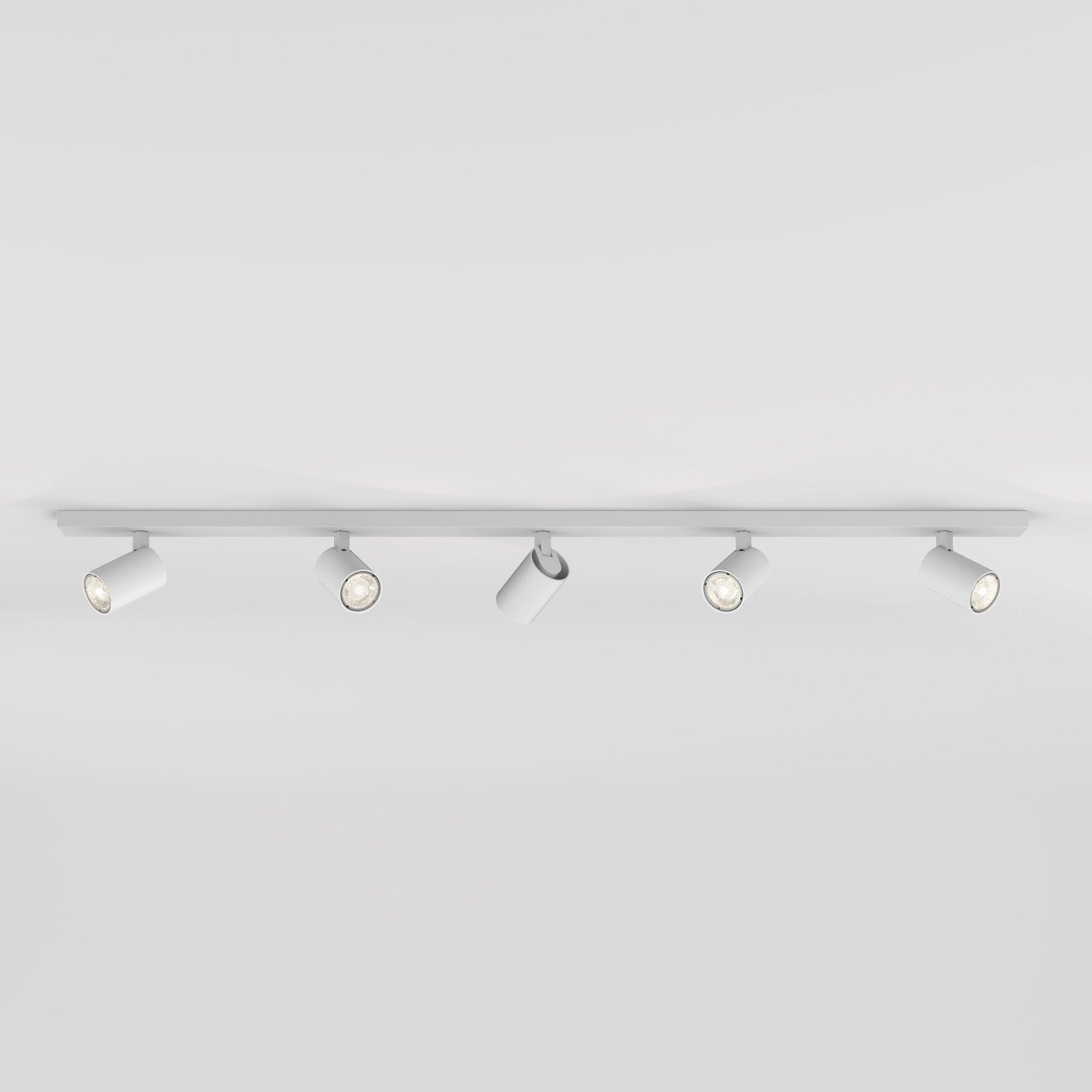 1286059 Ascoli Five Bar Spotlight Textured White