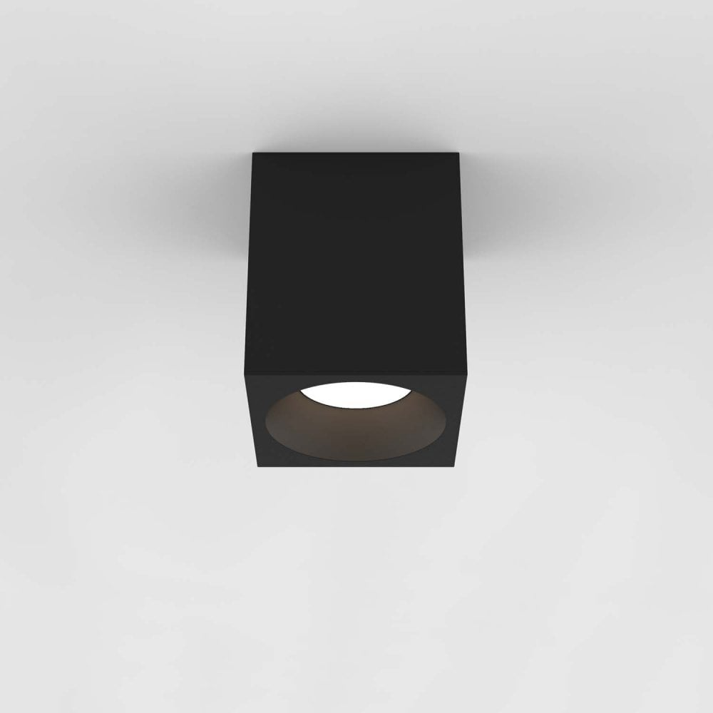 1326020 Kos Square 140 Led Outdoor Ceiling Light Textured Black