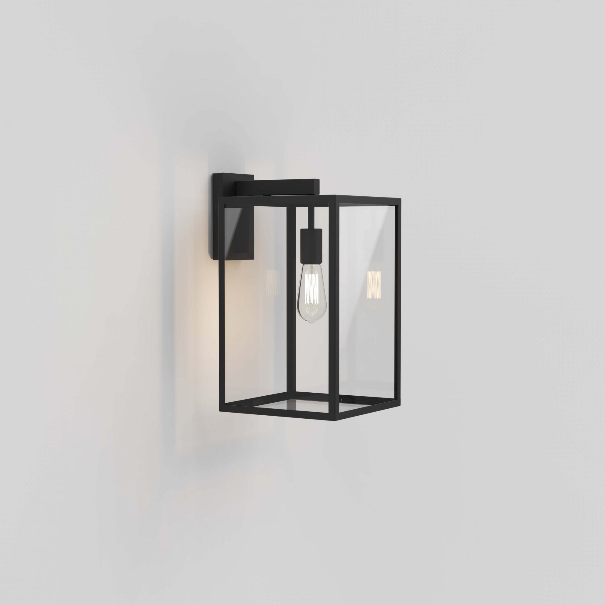 1354007 Box Lantern 450 Outdoor Wall Light Textured Black