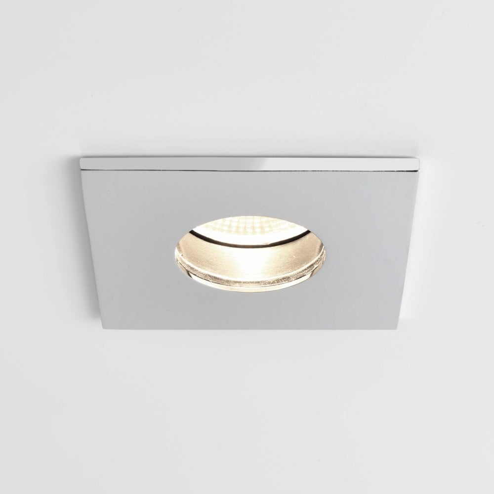 1381005 obscura square led downlight polished chrome