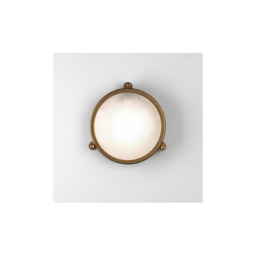 Malibu Brightscapes Landscape Lighting Antique Copper: 1387001 7969 Malibu Round Outdoor Wall Light Antique Brass