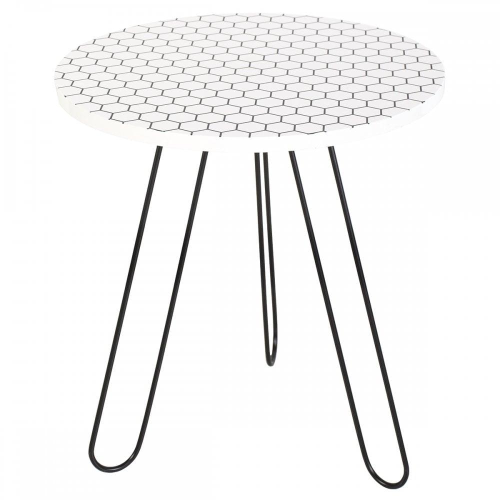 Wondrous Dar Lighting Group 001Isl002 Islington Side Table Round White Honeycomb Top Ibusinesslaw Wood Chair Design Ideas Ibusinesslaworg
