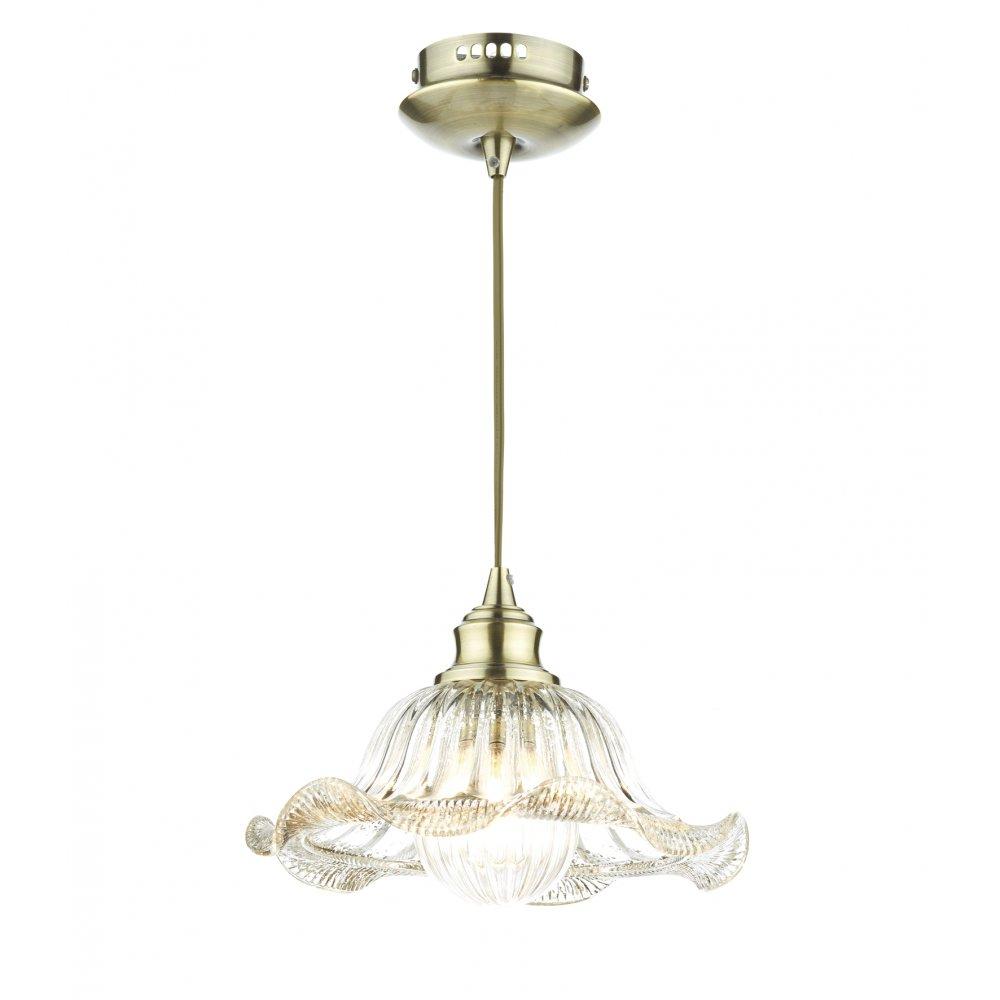 Ail0175 Aileen 1 Light Pendant Antique Brass