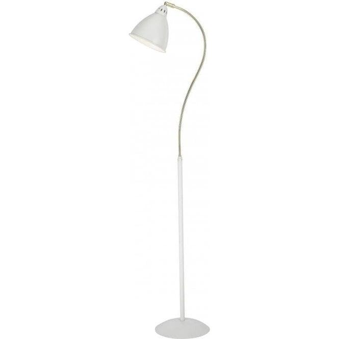HOL4913 Hollywood Floor Lamp White Brass