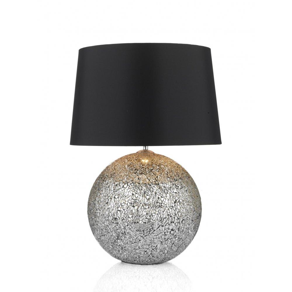 Ball glitter gli4232 table lamp medium size with black shade