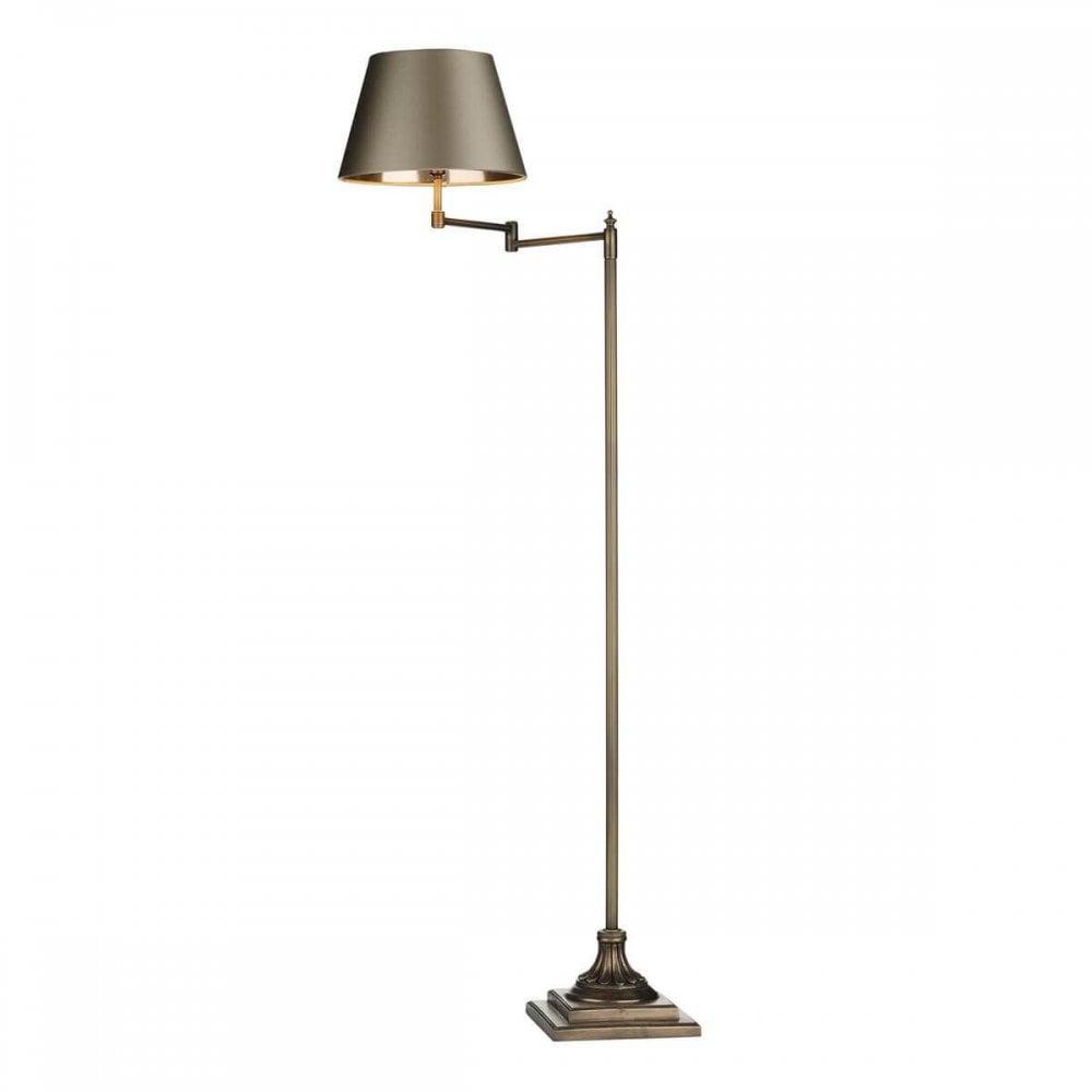 Pim4975l Pimlico Floor Lamp Swivel Arm Left Antique Brass