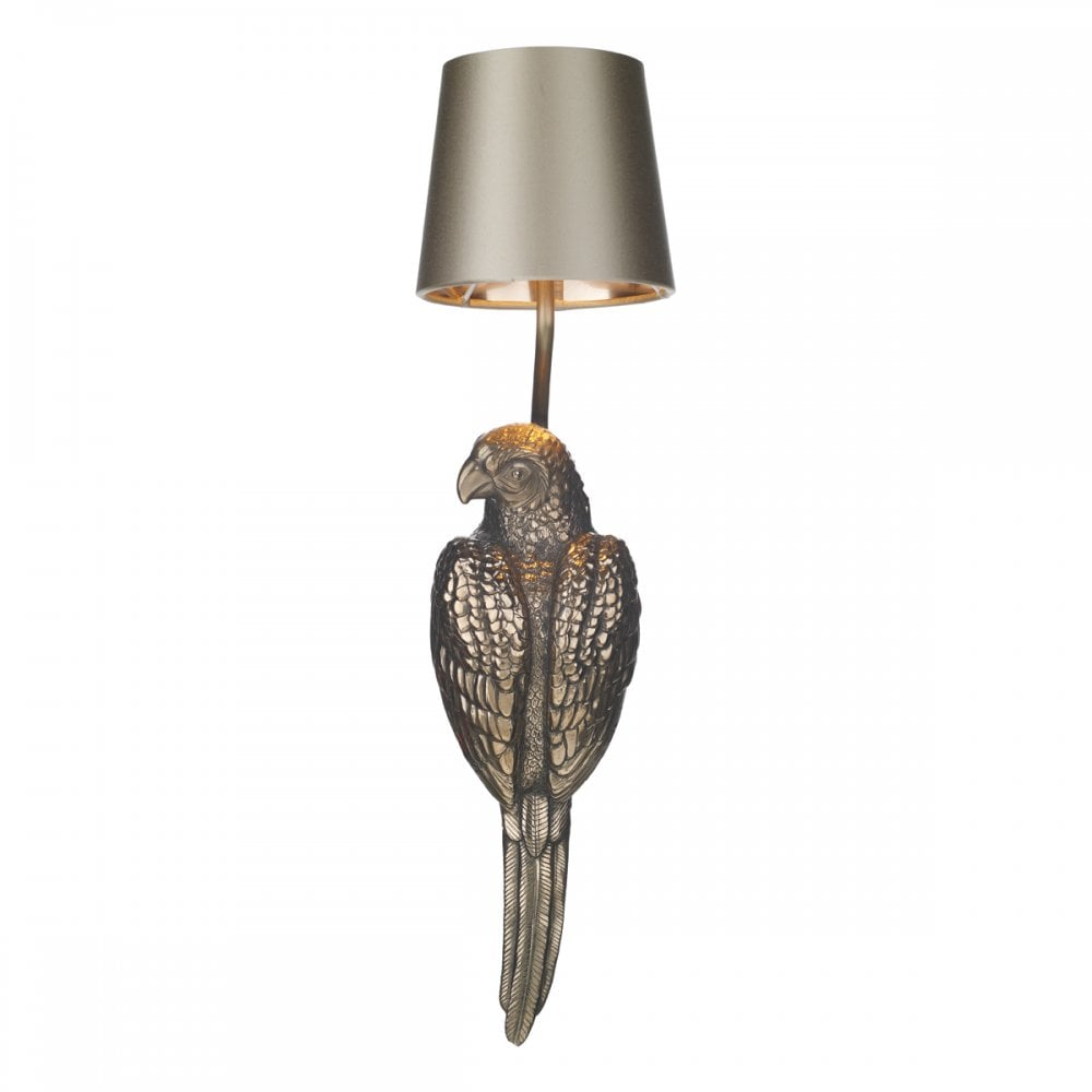 Par0700 Parrot Single Wall Bracket Bronze Silk Shade