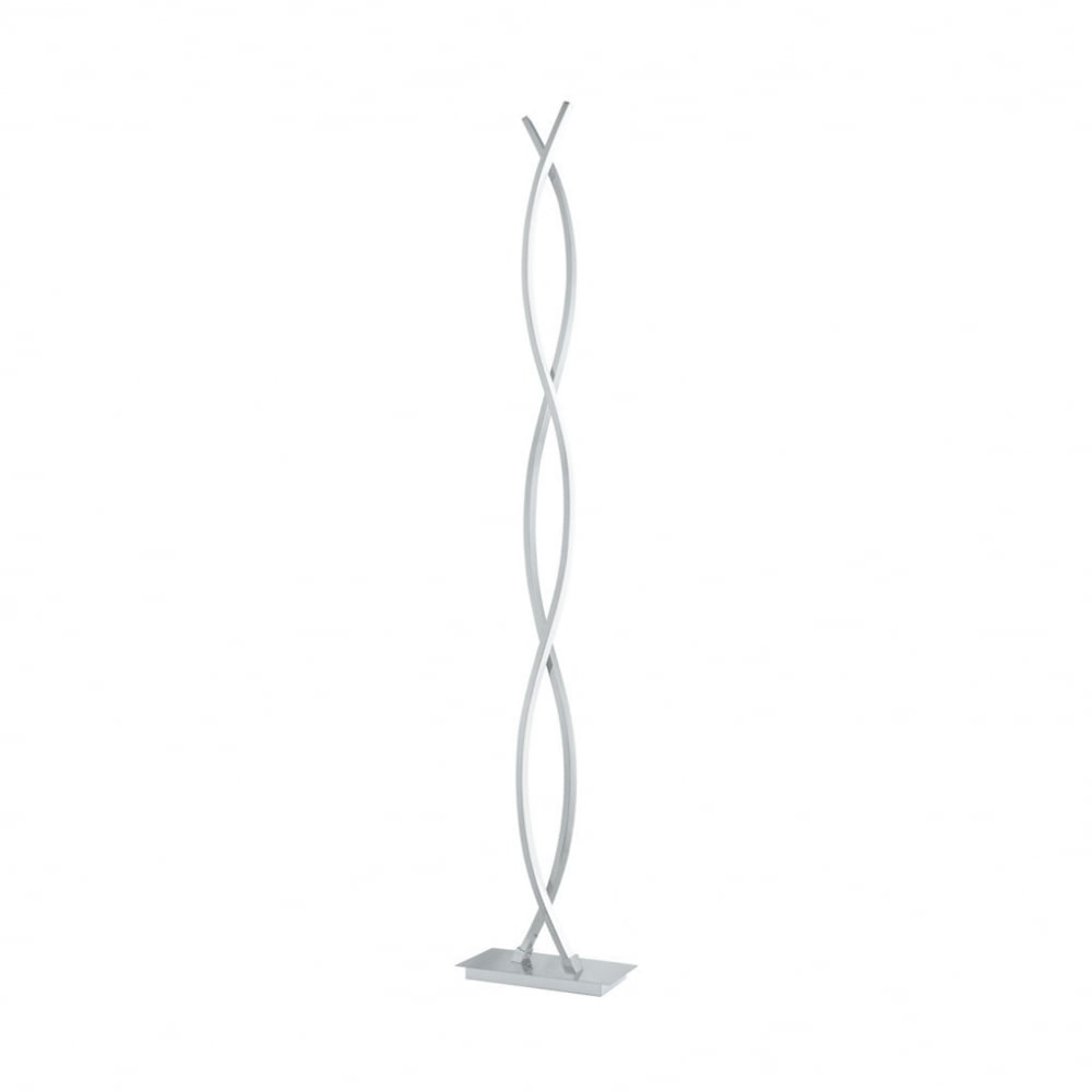 96106 Lasana 2 Led Floor Lamp Chrome White Shade