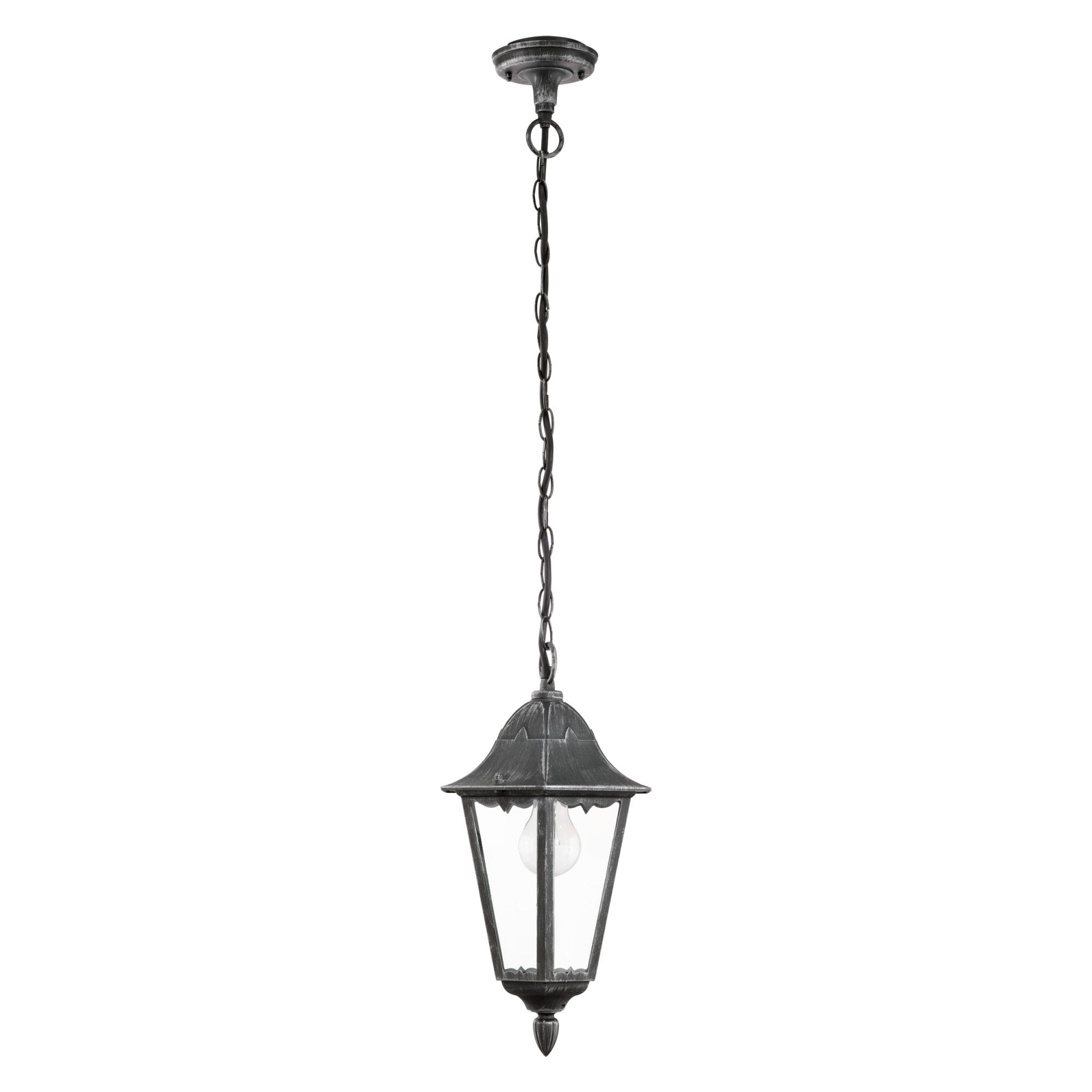 93455 Navedo Outdoor Pendant Light Black Silver Patina