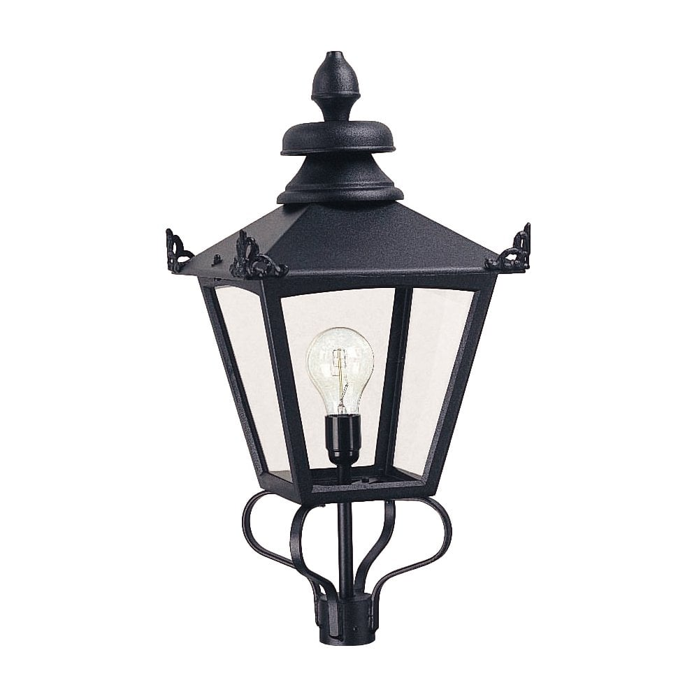 GL1 BLACK Grampian Lamp-post Lantern Head Only Black