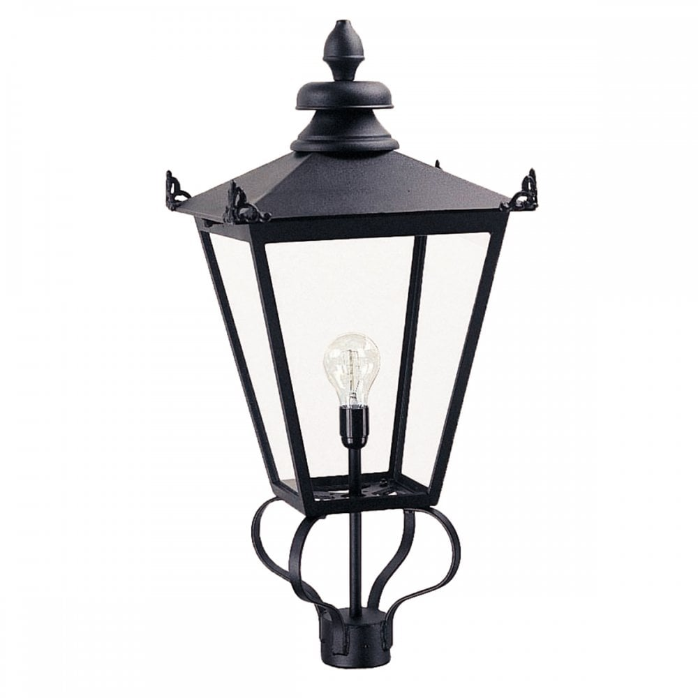 WSLL1 BLACK Wilmslow Lamp Post Lantern (head Only) Black