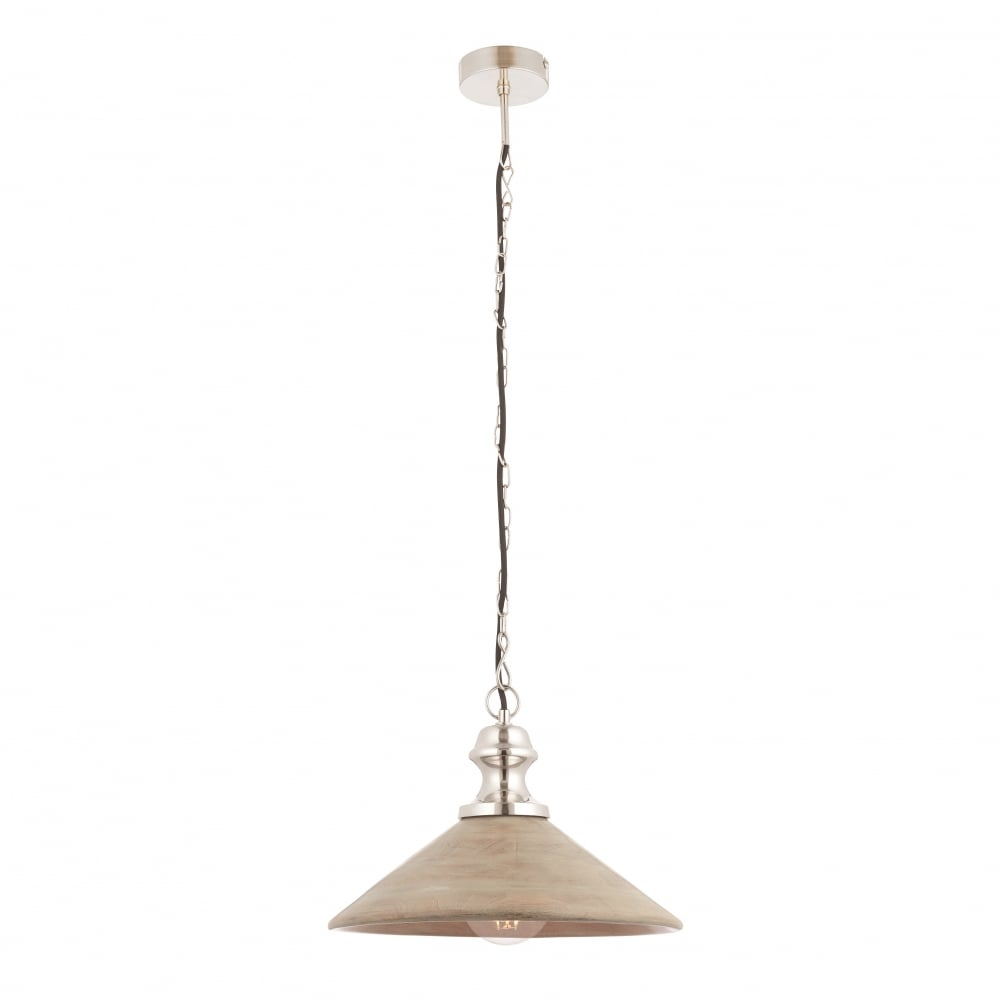 Endon Collingham Modern Contemporary Decorative White Dimmable Pendant Light