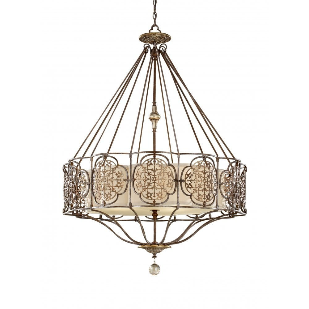 Feiss Valentina 4 Light Chandelier Oxidized Bronze
