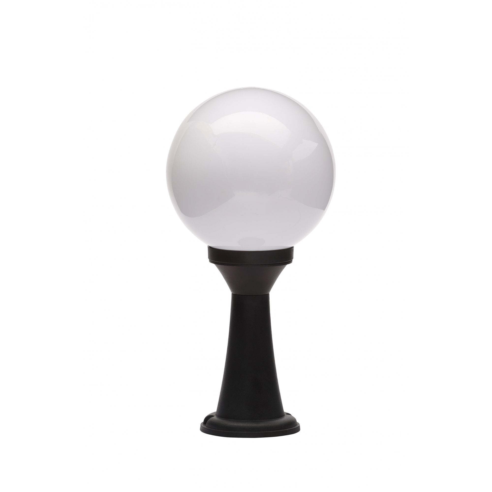 Cz 31812 Blk York Outdoor Light Opal Globe Post Black