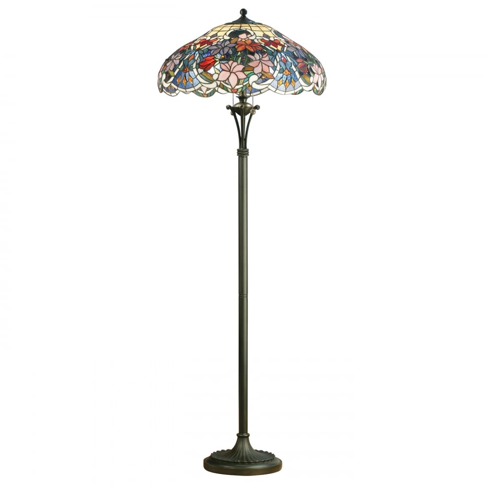 Floor Lamp Tiffany Style Glass Bronze