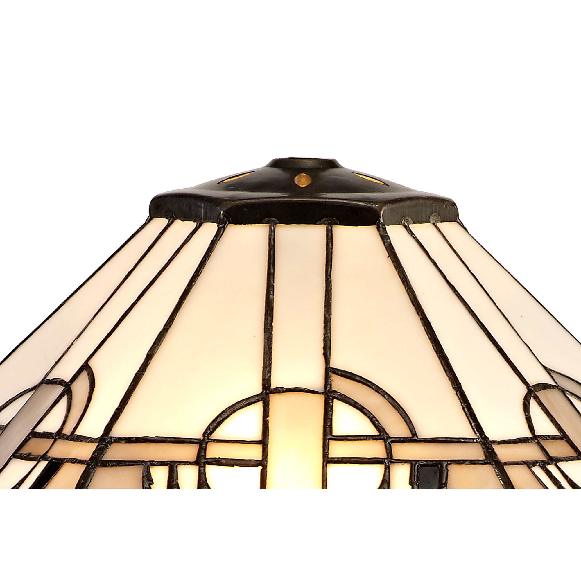 Lg72669 Azure Tiffany 40cm Shade Only Suitable For Pendant Ceiling Table Lamp White Grey Black Clear Crystal