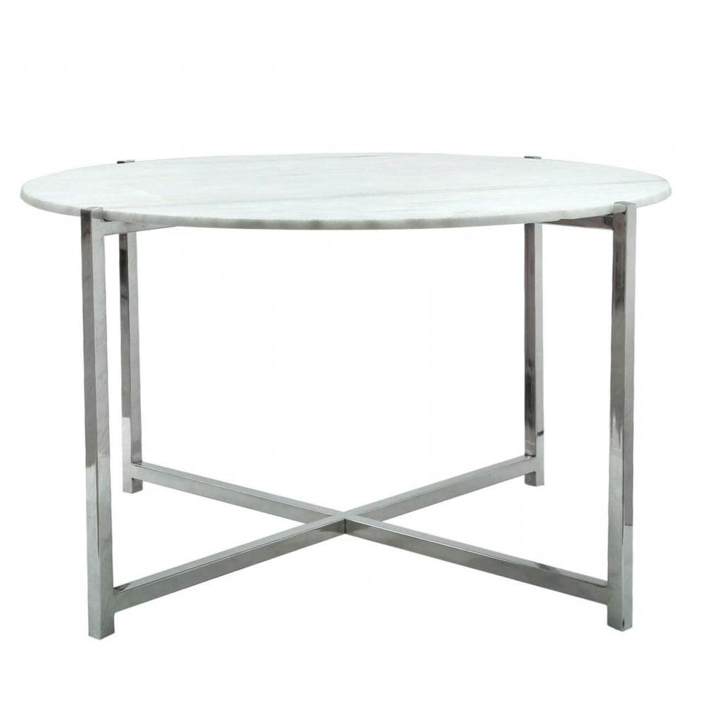 Ram001 Ramos White Marble Top Coffee Table