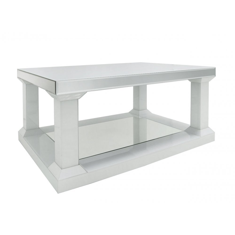 Wq018 White Queens Mirror Large Coffee Table