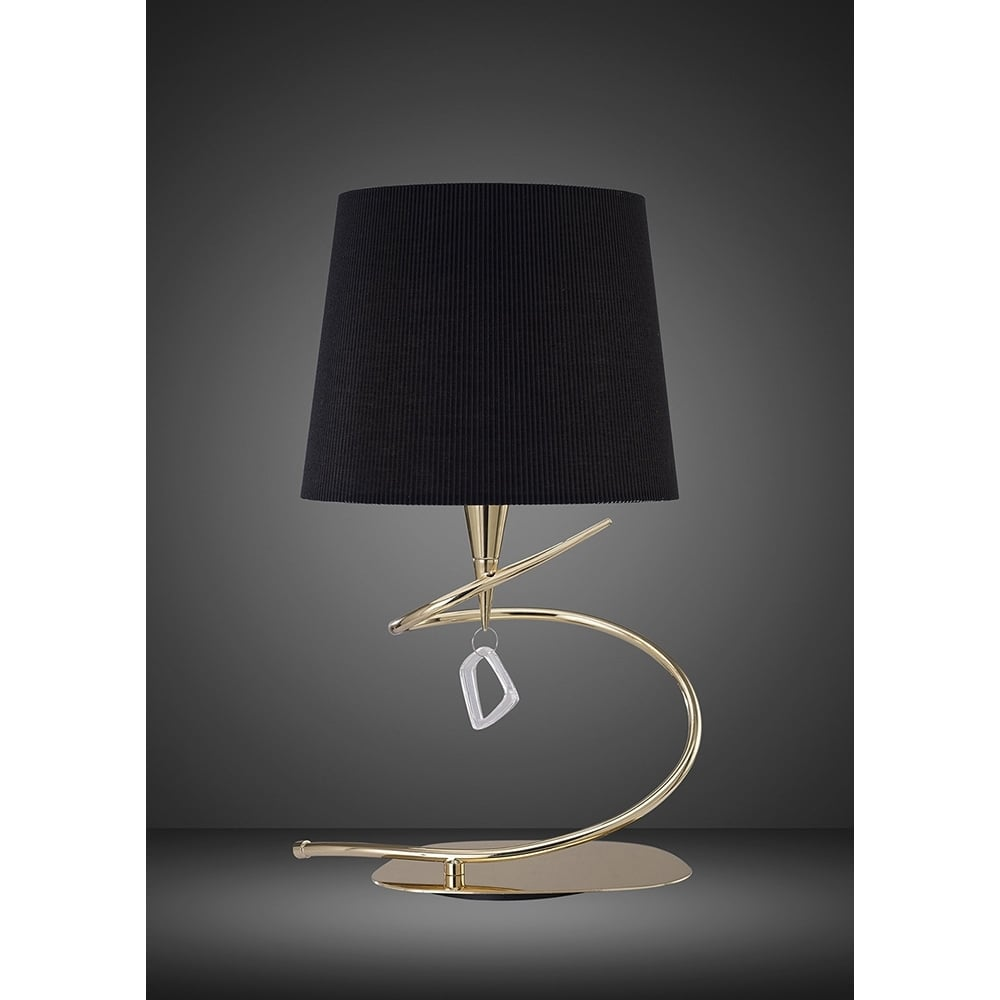 M1650fg Bs Mara Table Lamp Big 1 Light French Gold Black