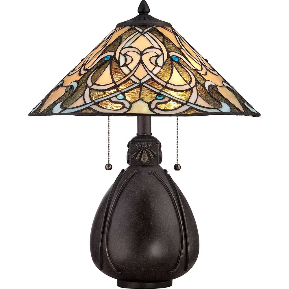 Quoizel Tiffany Indus Table Lamp in