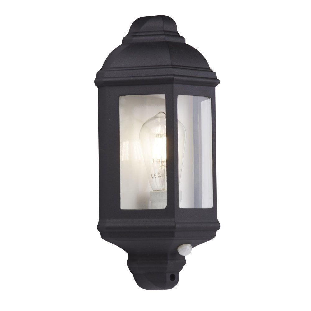 Searchlight 280bk pir outdoor porch wall light black flush