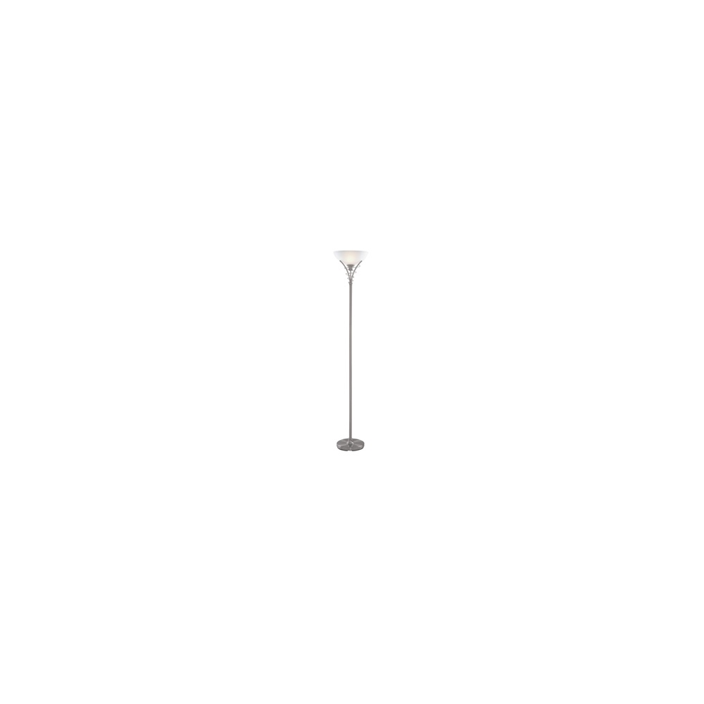 0eb17ee7a5ae 5222SS Uplighter - Linea Satin Silver Scroll Flopr Lamp /acid Glass