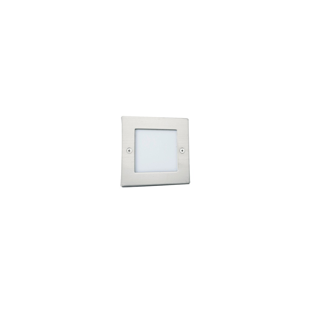 2544bb9ff28d 9907WH Ankle Led Recessed Indoor & Outdoor Light Square Chrome - White Led