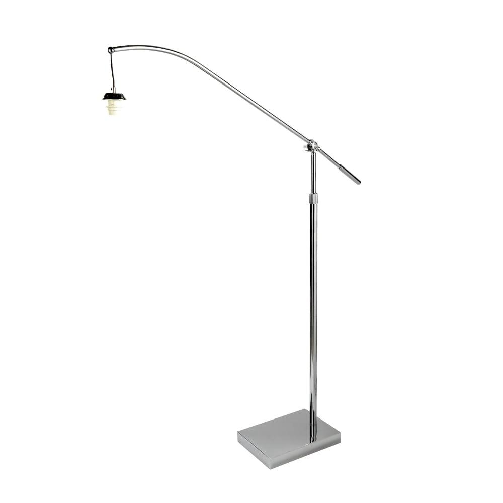 Fo1101cc Swing Arm Xl Frame Only Arc Arm Floor Lamp Chrome