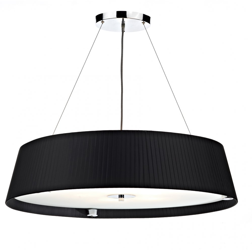 innovative design 042ac 1bf94 Där Lighting Group Wheel WHE0522 5 lamp 80cm slimline pendant light in black